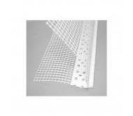 Уголок перфорированный пластиковый с сеткой